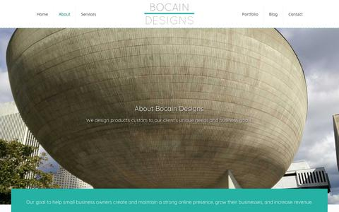 Screenshot of About Page bocaindesigns.com - Web Design Company in Colonie NY, Bocain Designs - captured Oct. 24, 2018