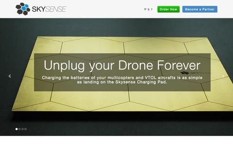 Screenshot of Home Page skysense.de - Skysense - UAV Autonomous Charging and Protective Hangars - captured Oct. 7, 2014