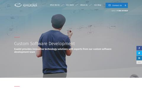 Screenshot of Services Page exadel.com - Custom Software Development | Services | Exadel - captured May 17, 2017
