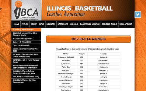 Screenshot of Press Page ibcaillinois.org - Illinois Basketball Coaches Association - captured Oct. 11, 2018