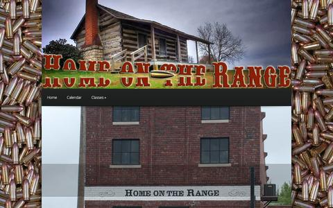 Screenshot of Home Page homeontherangefirearms.com - Home on the Range Firearms | Firearms, ammunition and more! - captured Jan. 31, 2016
