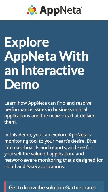 Interactive Demo | End User Performance Monitoring | AppNeta