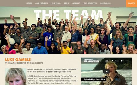 Screenshot of Team Page missionrabies.com - Mission Rabies - Taking up the fight against rabies in India - captured Oct. 7, 2014