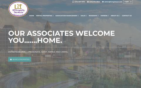 Screenshot of Home Page livingintown.com - Home | LivingInTown Property Services | Atlanta - captured Sept. 25, 2018