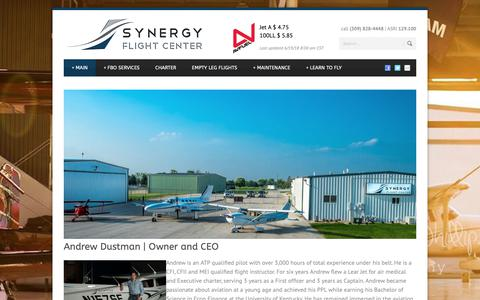 Screenshot of About Page synergyfbo.com - Synergy Flight Center   » About Us - captured Oct. 18, 2018