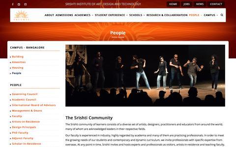 People | Srishti Institute of Art, Design and Technology