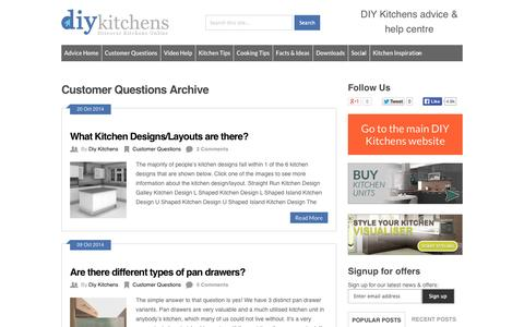 Screenshot of FAQ Page diy-kitchens.com - Customer Questions Archives - DIY Kitchens - Advice - captured Oct. 27, 2014