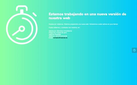 Screenshot of Home Page valorae.es - Valorae.es | Servicios Inmobiliarios is under construction - captured Sept. 20, 2018