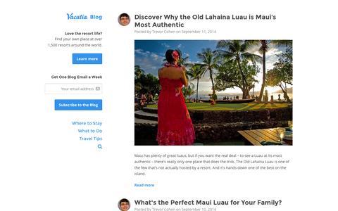 Screenshot of Blog vacatia.com - Vacation Ownership Guide | Vacatia Blog - captured Sept. 17, 2014