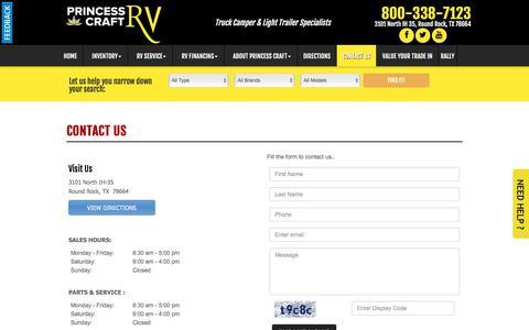 Screenshot of Contact Page princesscraft.com - Contact Us - captured June 14, 2016