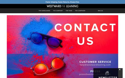 Screenshot of Contact Page westwardleaning.com - Westward Leaning - Contact Us - captured Feb. 20, 2016