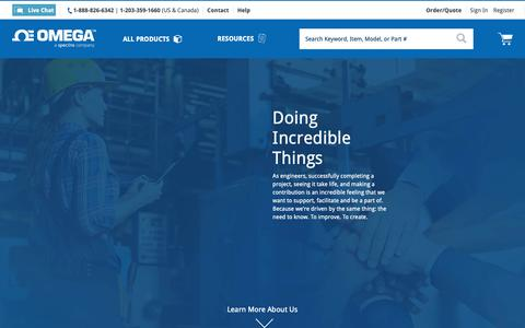 Screenshot of About Page omega.com - About Us | Omega Engineering US - captured April 18, 2019