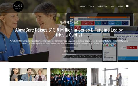 Screenshot of Press Page klass.com - News - Klass - captured Oct. 15, 2018