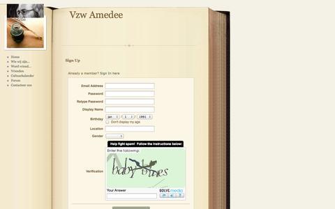 Screenshot of Signup Page webs.com - Signup - captured Sept. 13, 2014