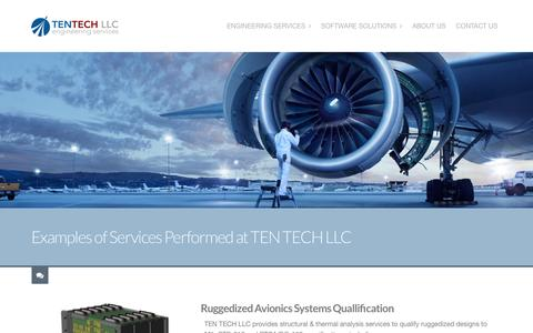 Screenshot of Case Studies Page tentechllc.com - Engineering Projects Performed by TEN TECH LLC | TEN TECH LLC - captured Aug. 15, 2015