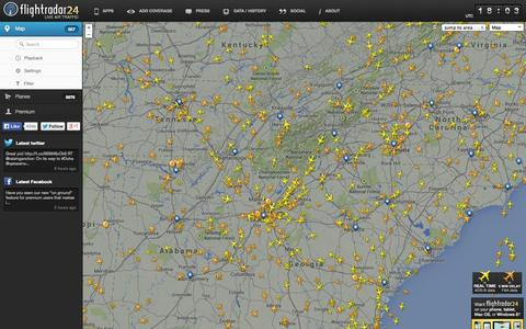 Screenshot of Home Page flightradar24.com - Flightradar24.com - Live flight tracker! - captured Sept. 19, 2014