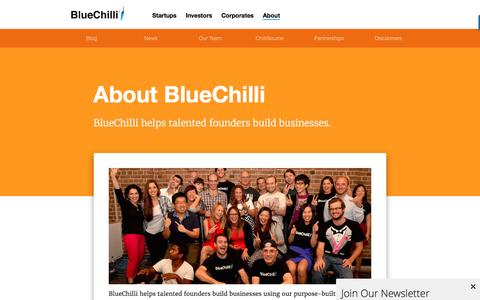 Screenshot of About Page bluechilli.com - About BlueChilli - BlueChilli - captured Nov. 17, 2016