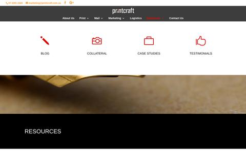 Screenshot of Case Studies Page printcraft.com.au - Blog, marketing, case studies, testimonials and resources - captured Nov. 11, 2016