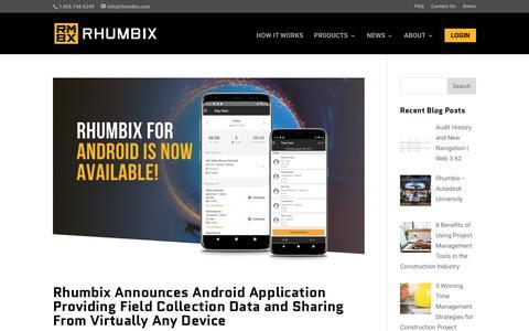 Screenshot of Press Page rhumbix.com - Featured on GlobeNewswire Archives - Rhumbix - captured Nov. 8, 2018