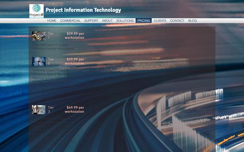 Screenshot of Pricing Page myprojectit.com - Project Information Technology LLC | PRICING - captured Sept. 30, 2018