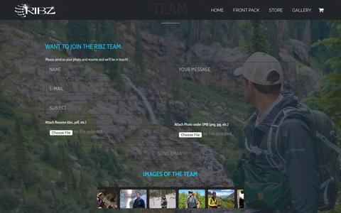Screenshot of Team Page ribzwear.com - Team | RibzWear - captured Feb. 15, 2019