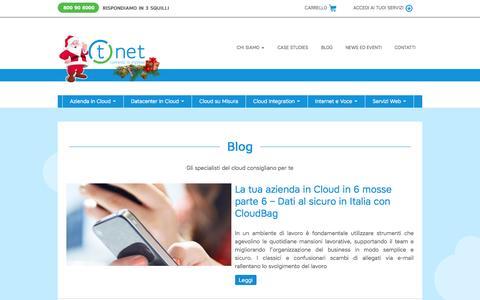 Screenshot of Blog tnet.it - Blog - T.net Italia - Connette le imprese - captured Dec. 7, 2016