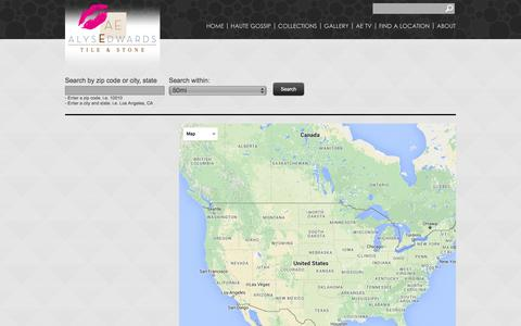 Screenshot of Locations Page alysedwards.com - Alyse Edwards - Tile and Stone - captured Feb. 5, 2016