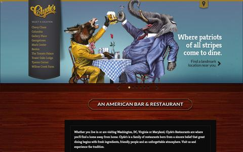 Screenshot of Home Page Jobs Page clydes.com - Clyde's | The City's Favorite Saloons and Restaurants - captured Sept. 18, 2014