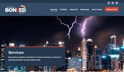 Screenshot of Services Page bondedlp.com - Services | Bonded LP - captured Oct. 6, 2018