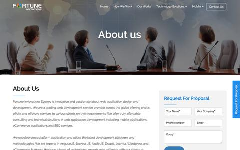 Screenshot of About Page fortuneinnovations.com - About Us   Fortune Innovations - captured Sept. 24, 2018