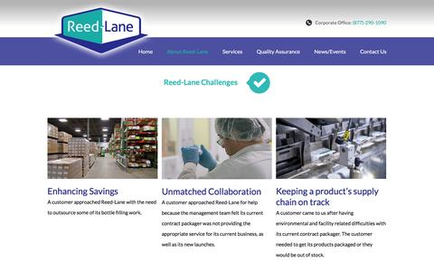 Screenshot of Case Studies Page reedlane.com - Pharmaceutical Packaging Case Studies: Reed-Lane - captured Dec. 14, 2016