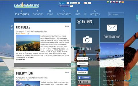 Screenshot of Home Page los-roques.org - Los Roques la Comunidad | Los Roques la Comunidad - captured Jan. 27, 2015
