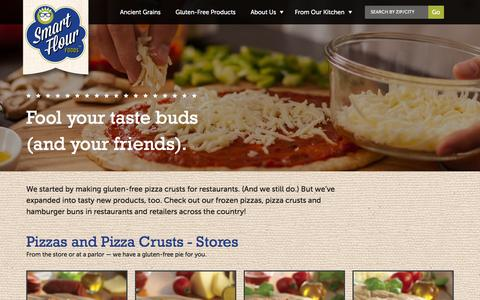 Screenshot of Products Page smartflourfoods.com - Gluten Free Products  | Smart Flour Foods - captured Jan. 11, 2016
