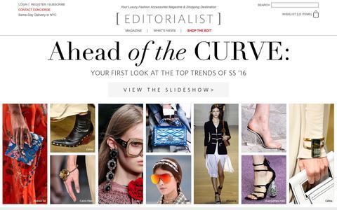 Screenshot of Home Page editorialist.com - Editorialist | Luxury Fashion Accessories Magazine & Online Store - captured Dec. 28, 2015