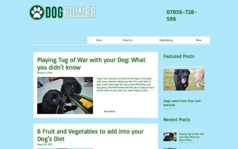 Screenshot of Blog dogpower.co.uk - Blog   Dog Power - captured June 4, 2017