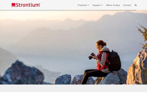 Screenshot of Home Page strontium.biz - Strontium | Memory cards, Flash drives, Apple accessories, Memory modules for everyone - captured Sept. 29, 2016