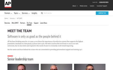 Screenshot of Team Page ap.org - Meet the ENPS Team | AP - captured Nov. 4, 2018
