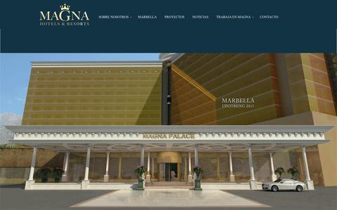 Screenshot of Home Page magnahotelsandresorts.com - Home - captured Dec. 21, 2015