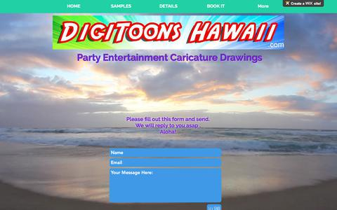 Screenshot of Contact Page digitoons.com - Digitoons Hawaii | CONTACT - captured Oct. 12, 2017