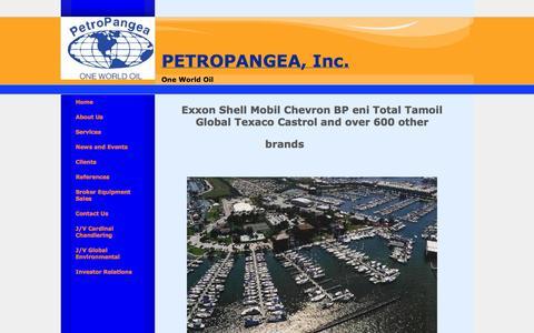 Screenshot of Home Page globaloil.co - Petroleum Supplier Inc - captured Oct. 2, 2014
