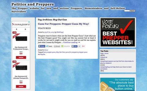 Screenshot of politicsandpreppers.com - Bug Out Gun | Politics and Preppers - captured April 14, 2016