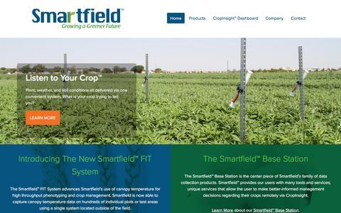 Screenshot of Home Page smartfield.com - Smartfield™ - captured July 4, 2016
