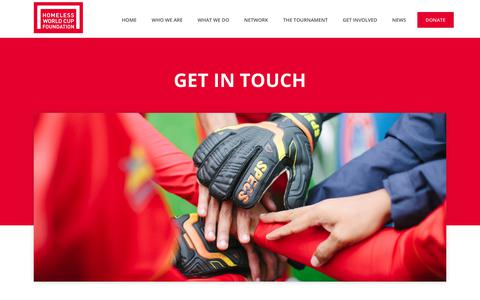 Screenshot of Contact Page homelessworldcup.org - Contact Us - Homeless World Cup - captured Aug. 26, 2017