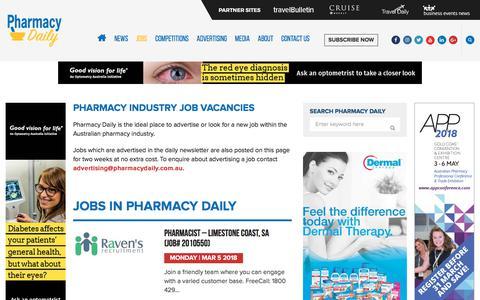 Jobs - Pharmacy Daily
