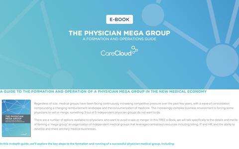 Screenshot of Landing Page carecloud.com - CareCloud | The Physician Mega Group - captured Feb. 6, 2019