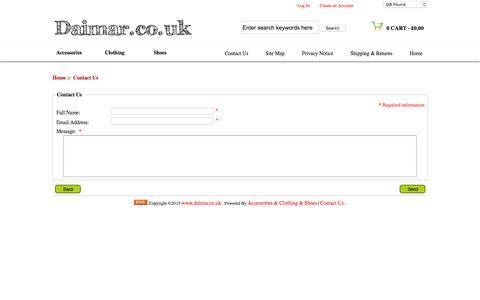 Screenshot of Contact Page daimar.co.uk - Contact Us : www.daimar.co.uk - captured Feb. 9, 2016
