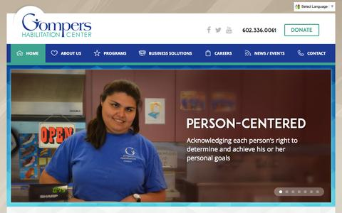 Screenshot of Hours Page gomperscenter.org - Home | Gompers Habilitation CenterGompers Habilitation Center - captured Oct. 3, 2014