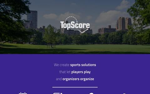 Screenshot of Home Page usetopscore.com - Home - TopScore - captured Jan. 26, 2015