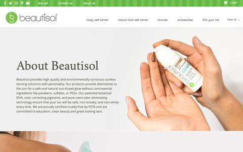 Screenshot of About Page beautisol.com - About Beautisol - captured Nov. 6, 2018