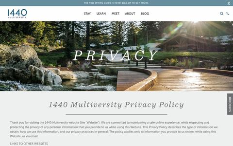 Privacy - 1440 Multiversity